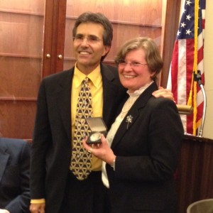 Vice Chairman Donald Sundman and Neinken Medal Winner Cheryl Ganz