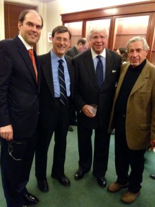 Trustee Carl Contiguglia, Executive Director Larry Lyons, Chairman of the Board of Trustees Robert G. Rose and Chairman Emeritus George J. Kramer